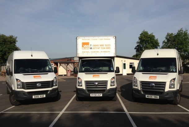 Our Fleet of modern, Clean Removal Vans in Exeter