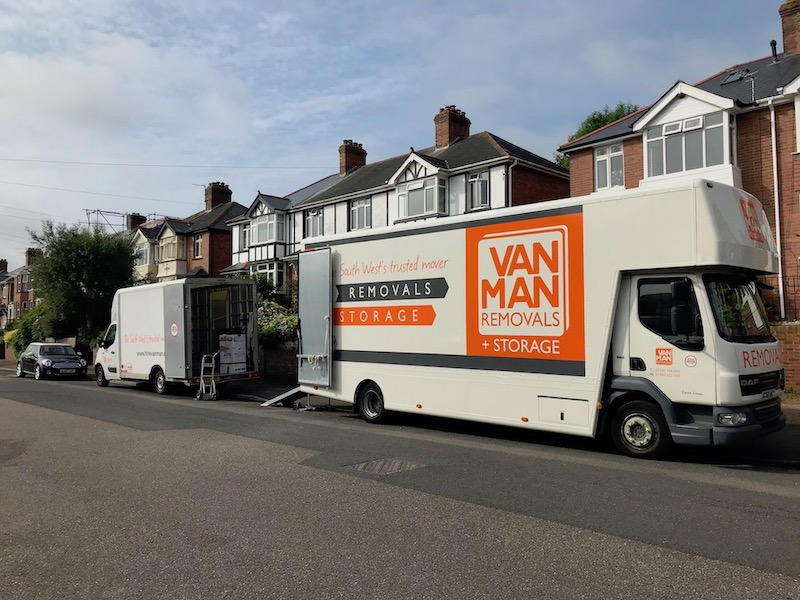 Exeter to London removals and London to Exeter removals